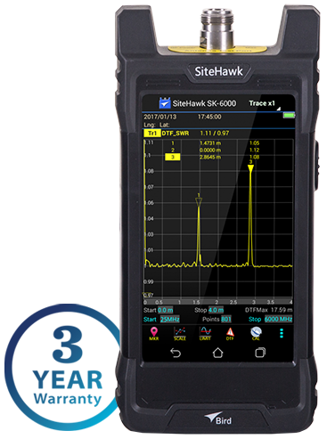 SK-6000-TC, 1 MHz to 6 GHz SiteHawk Cable and Antenna RF Analyzer
