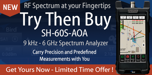 Try Then Buy SH-60S-AOA Spectrum Analyzer Promotion